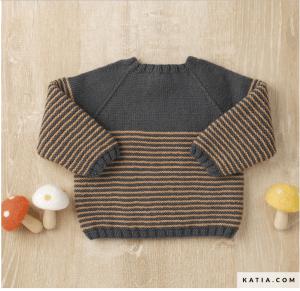 baby86babynaturestreifenpulliBABY NATURE Bio Wolle